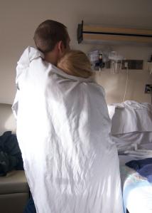 Hugging in labor